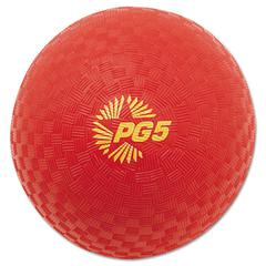 "Playground Ball, 5"" Diameter, Red"