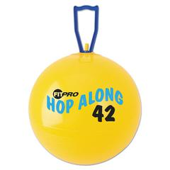Champion Sports FitPro Hop Along Pon Pon Ball, 42cm, Yellow