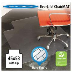 45x53 Lip Chair Mat, Multi-Task Series for Hard Floors, Heavier Use