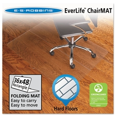 ES Robbins Foldable 36x48 Rectangle Chair Mat, Task Series for Hard Floors
