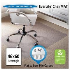 ES Robbins 46 x 60 Rectangle Chair Mat, Task Series AnchorBar for Carpet up to 1/4""