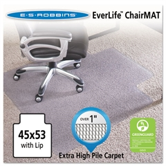 ES Robbins 45x53 Lip Chair Mat, Performance Series AnchorBar for Carpet over 1""