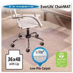"ES Robbins 36x48 Lip Chair Mat, Multi-Task Series AnchorBar for Carpet up to 3/8"""