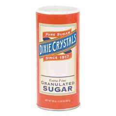 Granulated Sugar, 20 oz Canister, 24/Carton