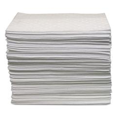 Oil-Only Sorbent Pads, Gray, 15 x 17, 100/Bundle