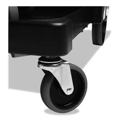 """Executive Quiet Caster and Ball Bearing Wheel Kit, Black, 8"""" Wheels, 4"""" Casters"""