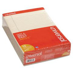 Colored Perforated Note Pads, 8 1/2 x 11, Ivory, 50 Sheet, Dozen