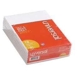 Scratch Pads, Unruled, 4 x 6, White, 100 Sheet Pads, 12 pack