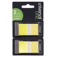 Universal Page Flags, Yellow, 50 Flags/Dispenser, 2 Dispensers/Pack