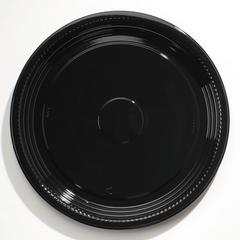 "Caterline Casuals Thermoformed Platters, PET, Black, 16"" Diameter"