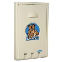 Koala Kare Standard Recessed Vertical Baby Changing Station, Cream