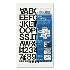 "Chartpak Press-On Vinyl Letters & Numbers, Self Adhesive, Black, 1""h, 88/Pack"