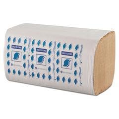 """Single-Fold Paper Towels, 1-Ply, Kraft, 9"""" x 9 1/4"""""""