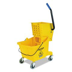 Side-Press Bucket/Wringer Combo, Yellow, 26qt, 18 1/2dia x 16 1/2w x 16 1/2h