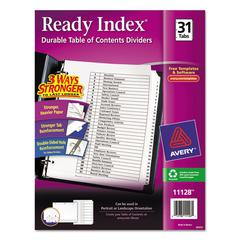 Avery Ready Index Customizable Table of Contents Black & White Dividers, 31-Tab, Ltr