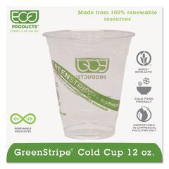 GreenStripe Renewable & Compostable Cold Cups - 12oz., 50/PK, 20 PK/CT