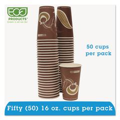 Eco-Products Evolution World 24% Recycled Content Hot Cups Convenience Pack - 16oz., 50/PK