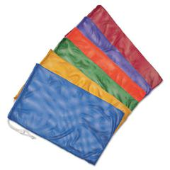 "Heavy-Duty Mesh Bag, 24"" x 48"", Assorted Colors, 6/Set"
