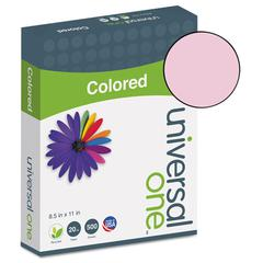 Universal Colored Paper, 20lb, 8-1/2 x 11, Pink, 500 Sheets/Ream