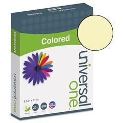 Universal Colored Paper, 20lb, 8-1/2 x 11, Canary, 500 Sheets/Ream