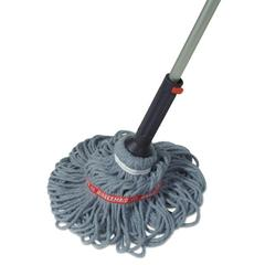 "Ratchet Twist Mop, Self-Wringing, Blended Yarn Head, Blue, 56"" Handle"