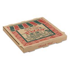 Corrugated Pizza Boxes, 14 x 14 x 1 3/4, Kraft, 50/Carton