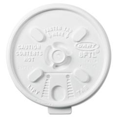 Dart Lift n' Lock Plastic Hot Cup Lids, 6-10oz Cups, White, 1000/Carton