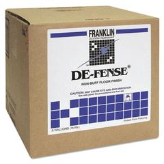 Franklin Cleaning Technology DE-FENSE Non-Buff Floor Finish, Liquid, 5 gal. Box