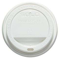 SOLO Cup Company Dome-Top Hot Cup Lids For 12oz-16oz Paper Hot Cups, White