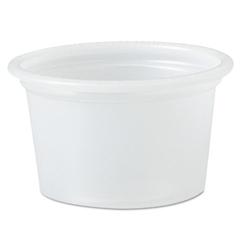 Plastic Soufflé Portion Cups, 1/2 oz., Translucent, 2500/Carton