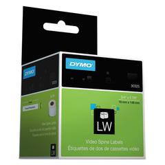 DYMO LabelWriter VHS/Spine Labels, 3/4 x 5 7/8, White/Blue Border, 75/Roll, 2 RL/PK