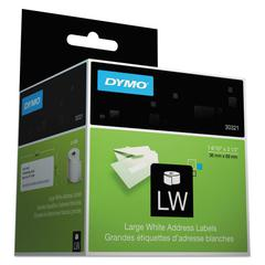 DYMO LabelWriter Address Labels, 1 2/5 x 3 1/2, White, 260 Labels/Roll, 2 Rolls/Pack
