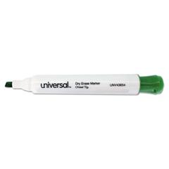 Universal Dry Erase Marker, Chisel Tip, Green, Dozen