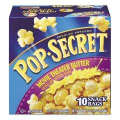 Pop Secret Microwave Popcorn, Movie Theatre Butter, 1.75 oz Bags, 10/Box