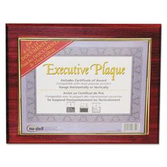 Executive Plaque, Plastic, 13 x 10-1/2, Mahogany