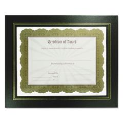 NuDell Leatherette Document Frame, 8-1/2 x 11, Black, Pack of Two