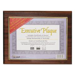 NuDell Executive Plaque, Plastic, 13 x 10-1/2, Walnut