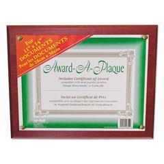 NuDell Award-A-Plaque Document Holder, 11 x 14, Mahogany