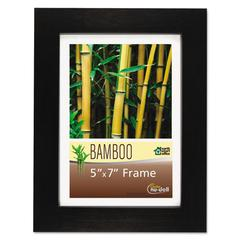 NuDell Bamboo Frame, 5 x 7, Black