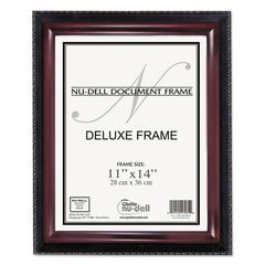 NuDell Executive Document Frame, Plastic, 11 x 14, Black/Mahogany
