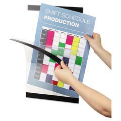DURAFRAME Sign Holder, 11 x 17 9/10, Black Frame, 2 per Pack