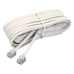 Telephone Extension Cord, Plug/Plug, 7 ft., Ivory