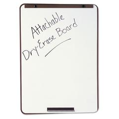 Oval Dry-Erase Board, 29 x 40, Metallic Bronze Finish Steel, Framed