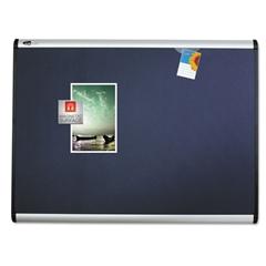 Prestige Plus Magnetic Fabric Bulletin Board, 48 x 36, Aluminum Frame