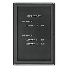 Enclosed Magnetic Directory, 24 x 36, Black Surface, Graphite Aluminum Frame