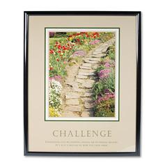 "Advantus ""Challenge"" Framed Motivational Print, 24 x 30"