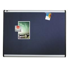 Prestige Plus Magnetic Fabric Bulletin Board, 36 x 24, Aluminum Frame