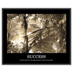 "Advantus ""Success"" Framed Sepia Tone Motivational Print, 30 x 24"