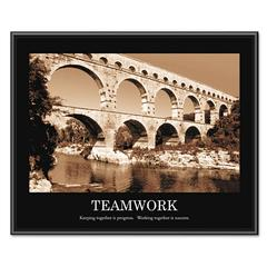 "Advantus ""Teamwork"" Framed Sepia-Tone Motivational Print, 30 x 24"
