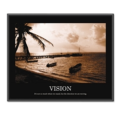 "Advantus ""Vision"" Framed Sepia-Tone Motivational Print, 30 x 24"